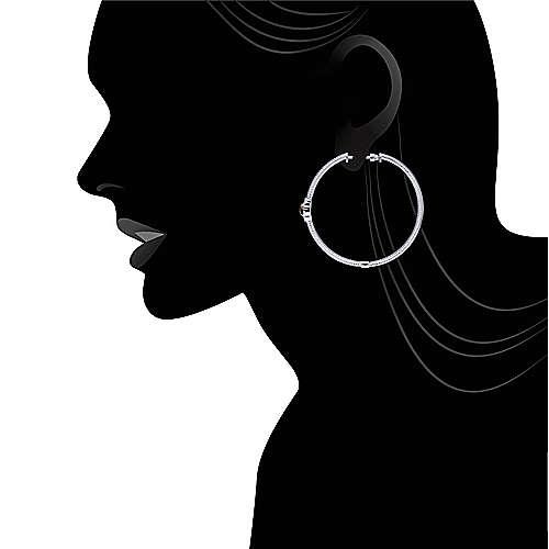 925 Silver Hoops Classic Hoop Earrings angle 4
