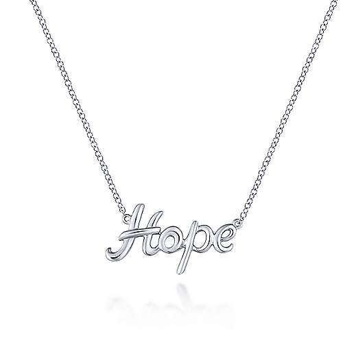 925 Silver Hope Fashion Necklace angle 1