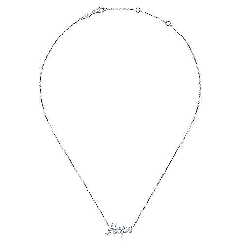 925 Silver Hope Fashion Necklace angle 2