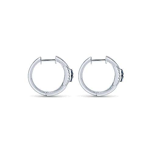 925 Silver Huggies Huggie Earrings angle 2