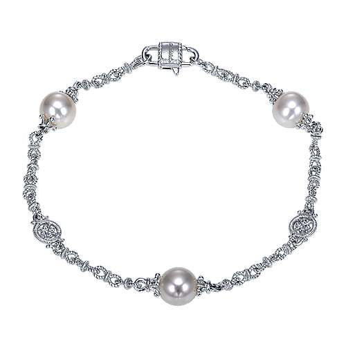 925 Silver Infinite Gems Chain Bracelet angle 1