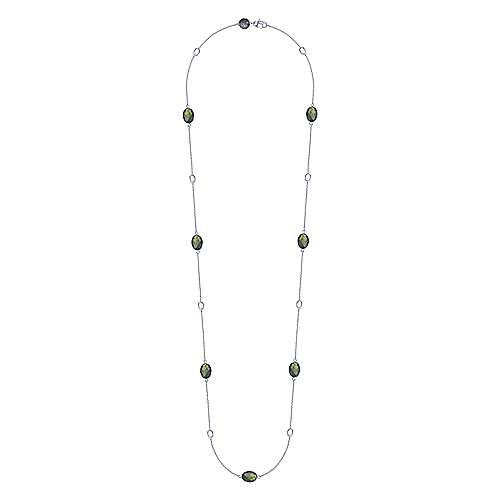 925 Silver Infinite Gems Diamond By The Yard Necklace angle 2