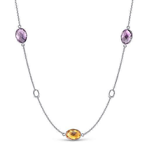 Gabriel - 925 Silver Infinite Gems Fashion Necklace