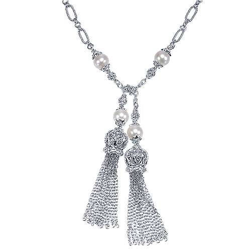 Gabriel - 925 Silver Infinite Gems Lariat Necklace