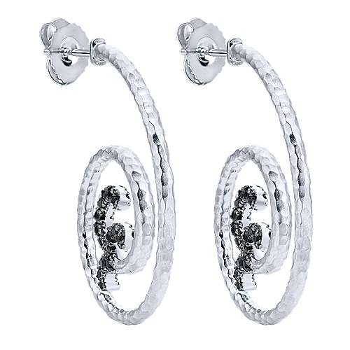 925 Silver Jubilee Drop Earrings angle 2