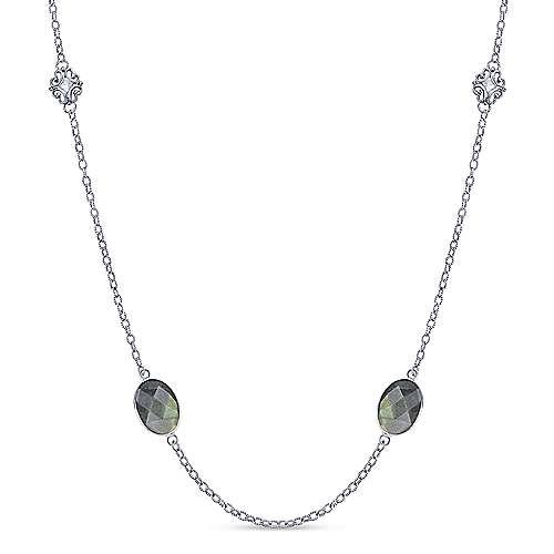 Gabriel - 925 Silver Infinite Gems Fashion Necklace