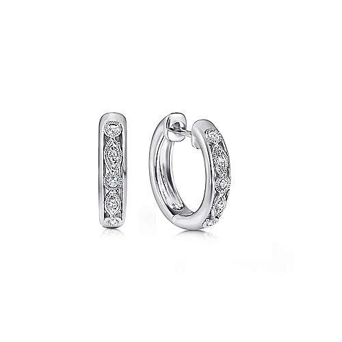 925 Silver Lusso Huggie Earrings