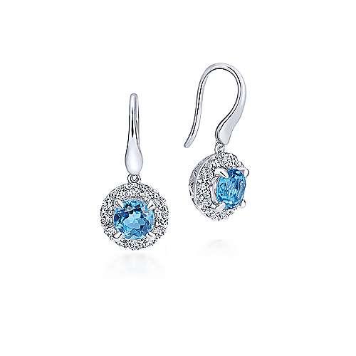 Gabriel - 925 Silver Color Solitaire Drop Earrings