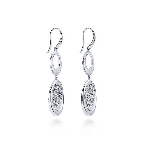 925 Silver Madison Drop Earrings angle 2