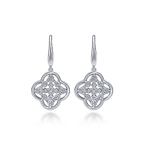925 Silver Madison Drop Earrings angle 1