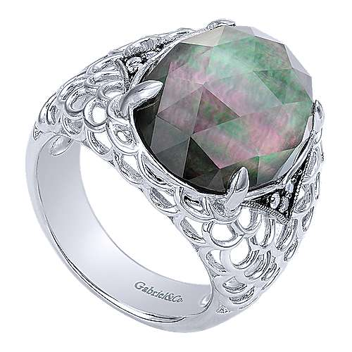 925 Silver Madison Fashion Ladies' Ring angle 3