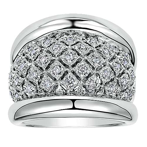 925 Silver Madison Wide Band Ladies' Ring angle 4