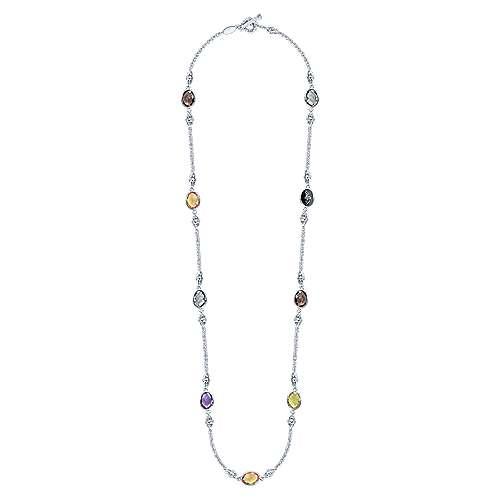 925 Silver, M.clr Necklace  angle 2