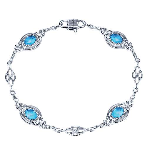 925 Silver Mediterranean Chain Bracelet angle 1