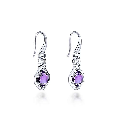925 Silver Mediterranean Drop Earrings angle 2