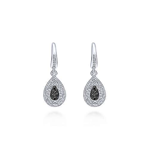 925 Silver Mediterranean Drop Earrings angle 1