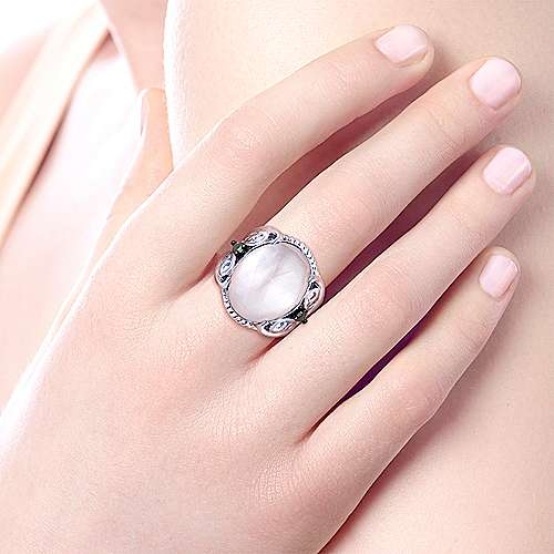 925 Silver Mediterranean Fashion Ladies' Ring angle 5