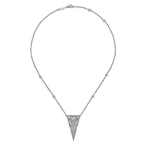 925 Silver Mediterranean Fashion Necklace angle 3