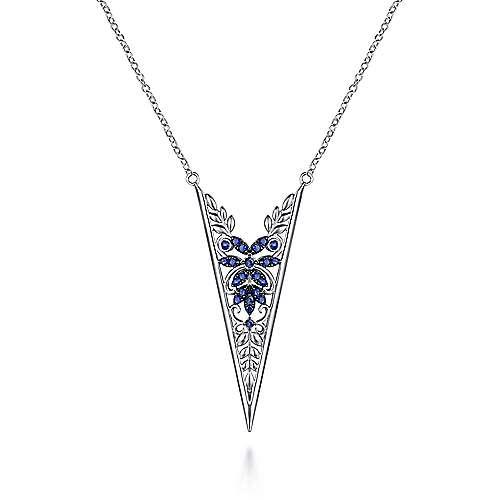 925 Silver Mediterranean Fashion Necklace angle 1