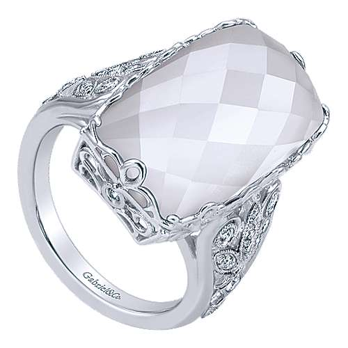 925 Silver Mediterranean Statement Ladies' Ring angle 3