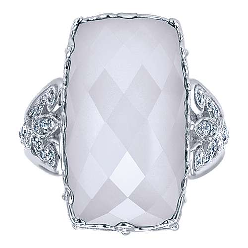 925 Silver Mediterranean Statement Ladies' Ring angle 4