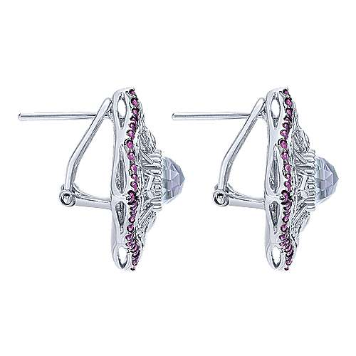 925 Silver Mediterranean Stud Earrings angle 3