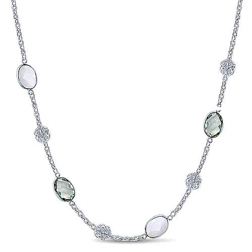 Gabriel - 925 Silver Infinite Gems Diamond By The Yard Necklace