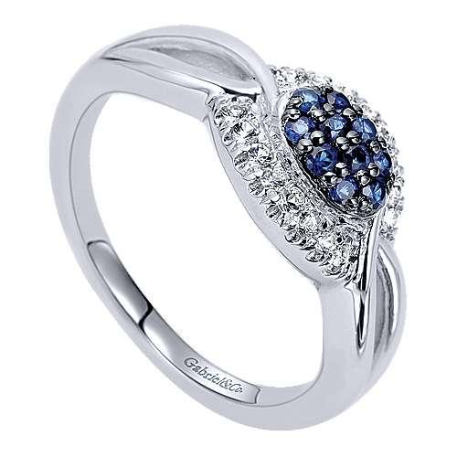 925 Silver Multi Color Stones Fashion Ladies