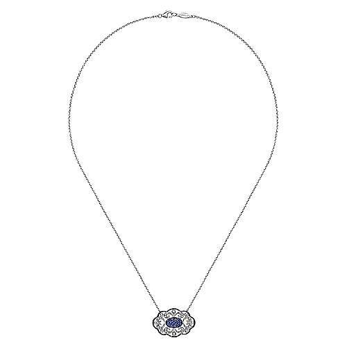 925 Silver Multi Color Stones Fashion Necklace angle 2