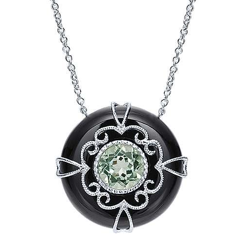 Gabriel - 925 Silver Mediterranean Fashion Necklace