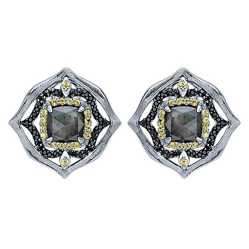 Gabriel - 925 Silver Huggies Huggie Earrings