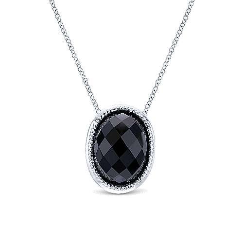 Gabriel - 925 Silver Hampton Fashion Necklace