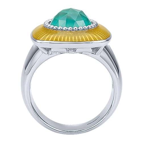 925 Silver Patina Fashion Ladies' Ring angle 2