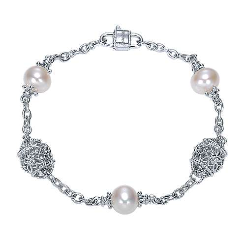 Gabriel - 925 Silver Infinite Gems Chain Bracelet