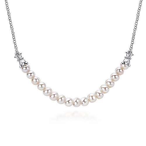 Gabriel - 925 Silver Trends Fashion Necklace