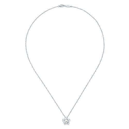 925 Silver Pearl Fashion Necklace angle 2