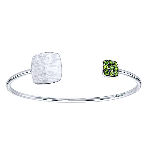 Gabriel - 925 Silver Peridot Engravable Bangle