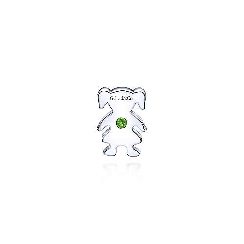 925 Silver Peridot Locket Charm Pendant angle 2
