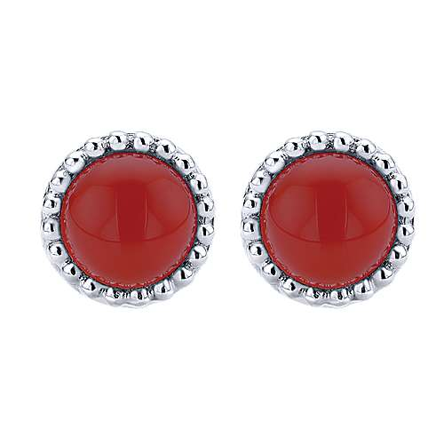 Gabriel - 925 Silver Bombay Stud Earrings