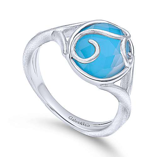 925 Silver Rock Crystal&turquoise Fashion Ladies