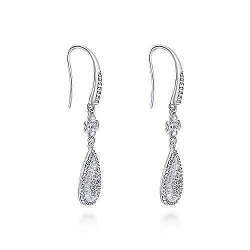 925 Silver Roman Drop Earrings angle 2