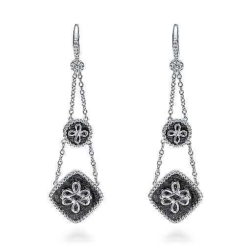 Gabriel - 925 Silver Roman Drop Earrings