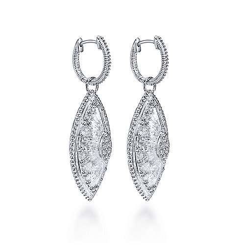 925 Silver Roman Drop Earrings angle 2