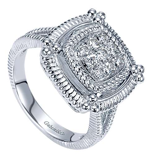 925 Silver Roman Fashion Ladies' Ring angle 3