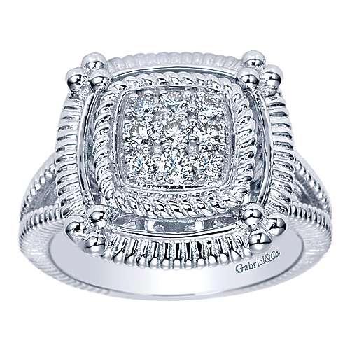 925 Silver Roman Fashion Ladies' Ring angle 4