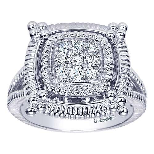 925 Silver Roman Fashion Ladies' Ring angle 5