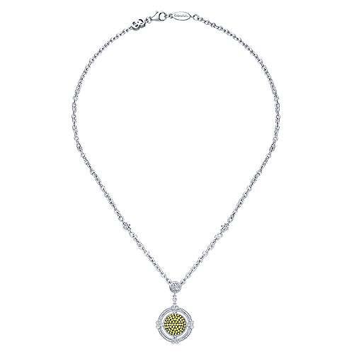 925 Silver Roman Fashion Necklace angle 2