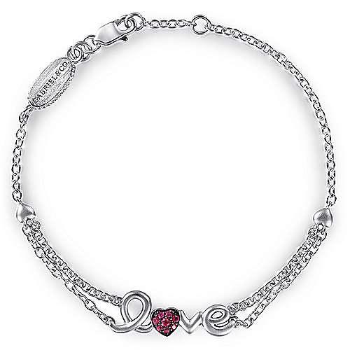 Gabriel - 925 Silver Eternal Love Heart Bracelet