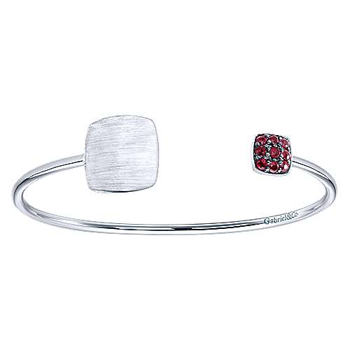 Gabriel - 925 Silver Ruby Engravable Bangle