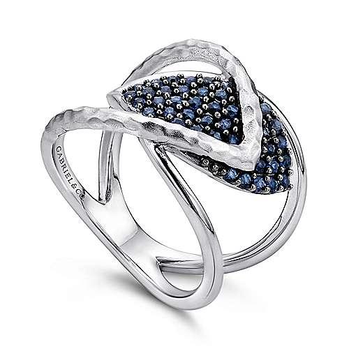 925 Silver Sapp Ring angle 3